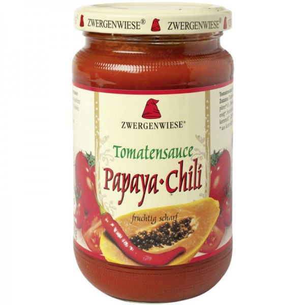 Tomatensauce Papaya-Chili Bio, 340ml - Zwergenwiese