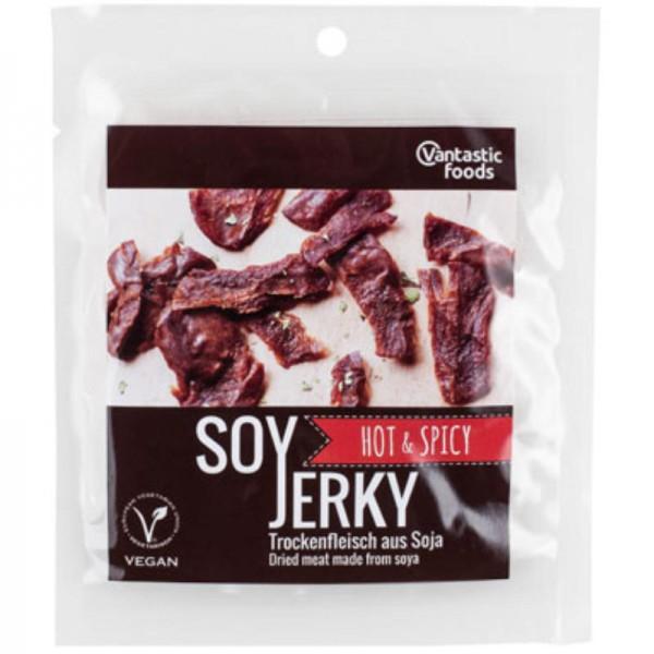 Soy Jerky Hot & Spicy, 70g - Vantastic Foods