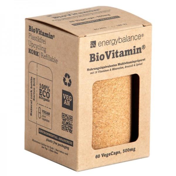 Bio Vitamin Nahrungsäquivalentes Multivitaminpräparat 500mg, 60 VegeCaps - Energybalance