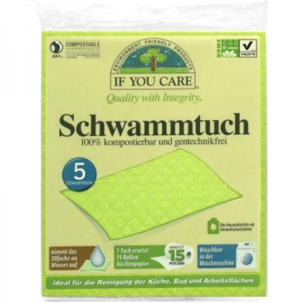 Schwammtücher, Pack à 5 Stück - If You Care