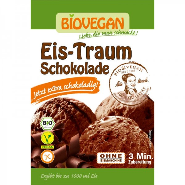 Eis-Traum Schokolade Bio, 89g - Biovegan