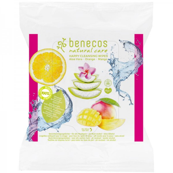 Happy Cleansing Wipes, 25 Stück - Benecos