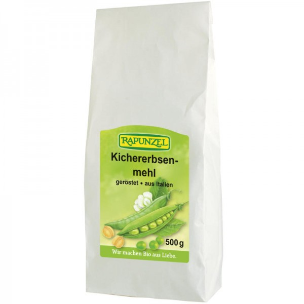 Kichererbsenmehl geröstet Bio, 500g - Rapunzel
