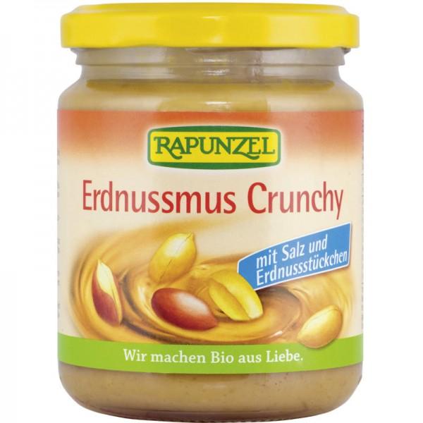 Erdnussmus Crunchy mit Salz Bio, 250g - Rapunzel