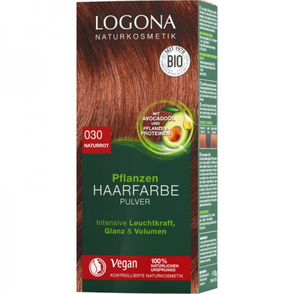 Pflanzen Haarfarbe 030 naturrot, 100g - Logona