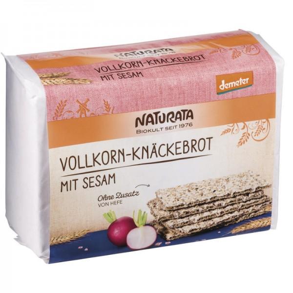 Roggen Vollkorn-Knäckebrot mit Sesam Bio, 250g - Naturata
