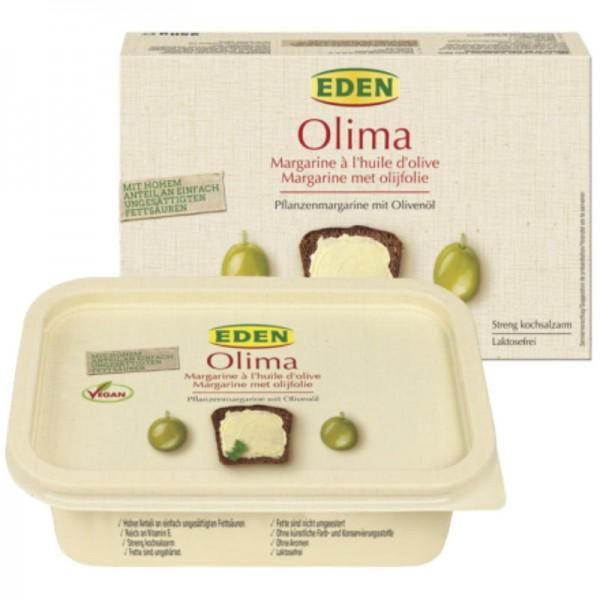 Olima Pflanzenmargarine mit Olivenöl, 250g - Eden