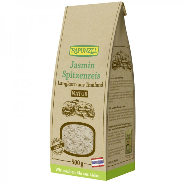 Jasmin Spitzenreis Langkorn Natur Bio, 500g - Rapunzel