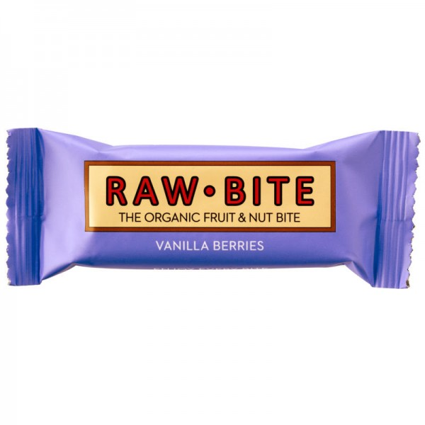 Vanilla Berries Rohkost-Riegel Bio, 50g - Raw Bite