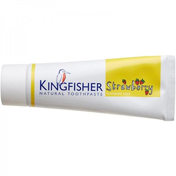 Zahncreme Erdbeere für Kinder ohne Fluor, 75ml - Kingfisher
