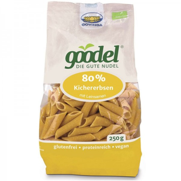 goodel 80% Kichererbsen mit Leinsamen Penne Bio, 250g - Govinda