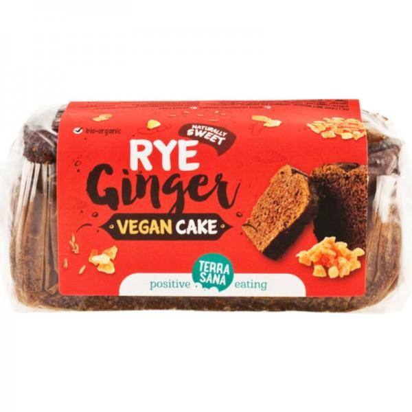 Vegan Cake Rye & Ginger Bio, 350g - TerraSana