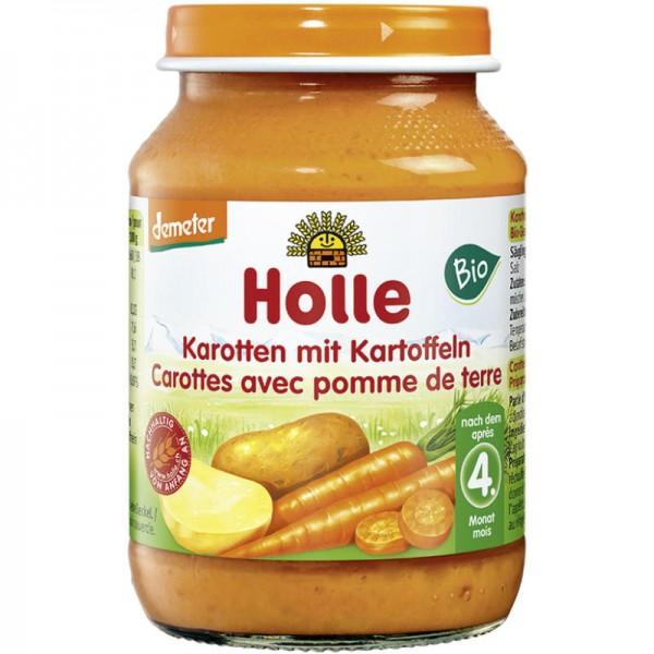 Karotten mit Kartoffeln Gemüsegläschen Bio, 190g - Holle