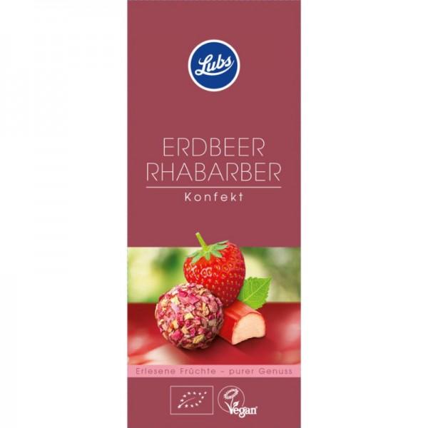 Erdbeer-Rhabarber-Konfekt Bio, 80g - Lubs