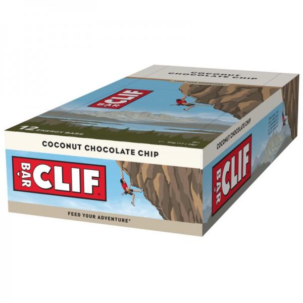 Coconut Chocolate Chip Riegel Box, 12 Stück - Clif Bar