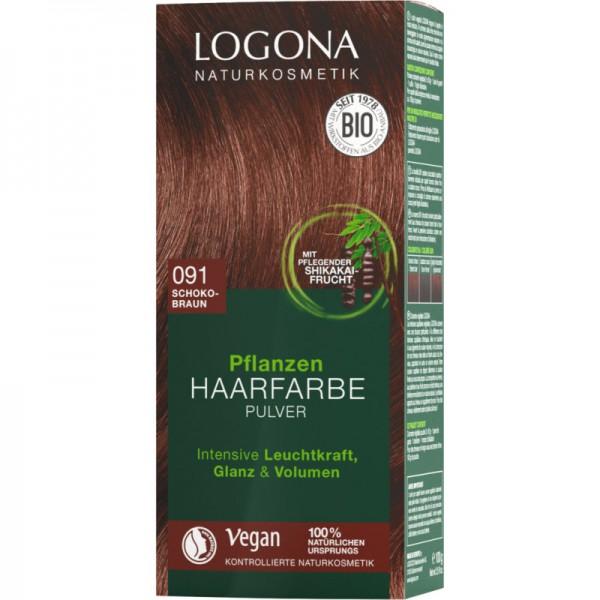Pflanzen Haarfarbe 091 schokobraun, 100g - Logona