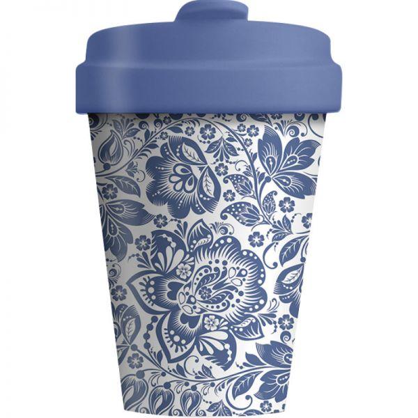 Bamboo Cup Blue Flowers 400ml, 1 Stück - Chic Mic