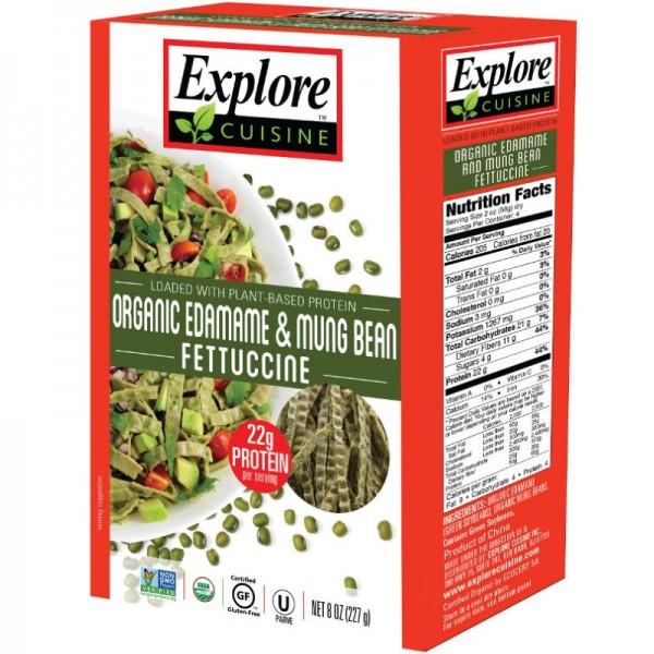 Fettuccine aus Edamame & Mungobohnen Bio, 200g - Explore Cusine