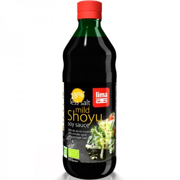 Shoyu mild soya sauce 28% weniger Salz Bio, 500ml - Lima