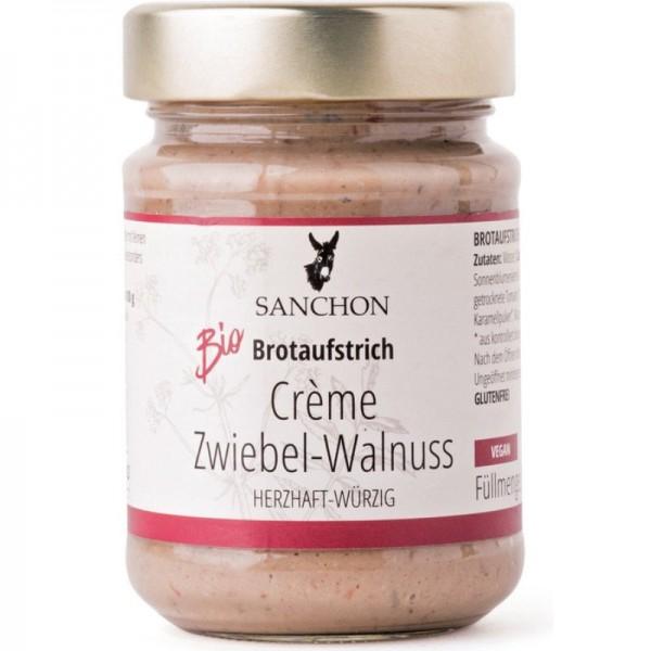 Brotaufstrich Crème Zwiebel-Walnuss Bio, 190g - Sanchon