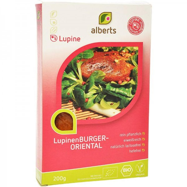 LupinenBURGER-ORIENTAL Bio, 200g - Alberts