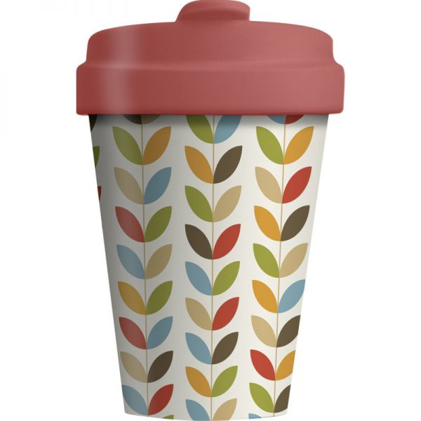 Bamboo Cup Bright Leaves 400ml, 1 Stück - Chic Mic