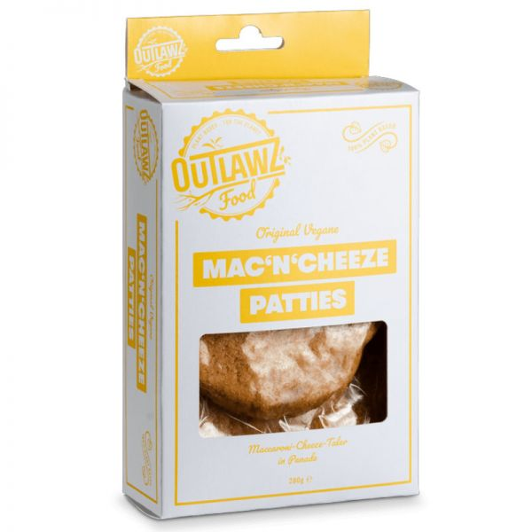 Mac'n'Cheeze Patties, 280g - Outlawz Food