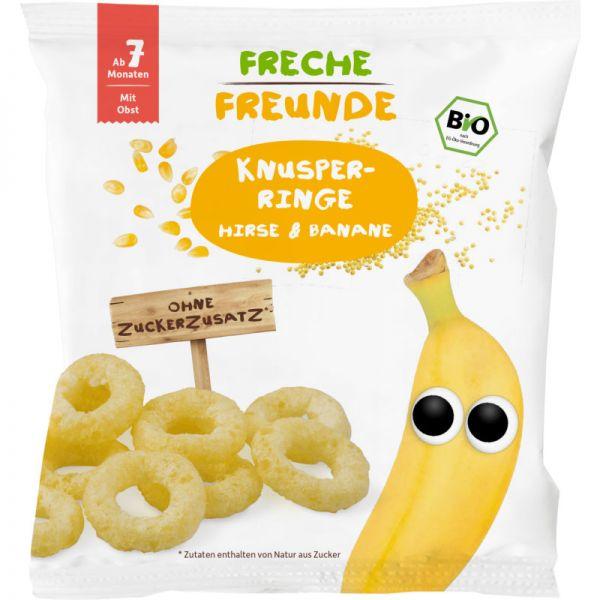 Knusper-Ringe Hirse & Banane Bio, 20g - Freche Freunde