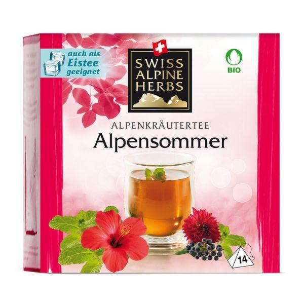 Kräutertee Alpensommer Tee Bio, 14x1g - Swiss Alpine Herbs