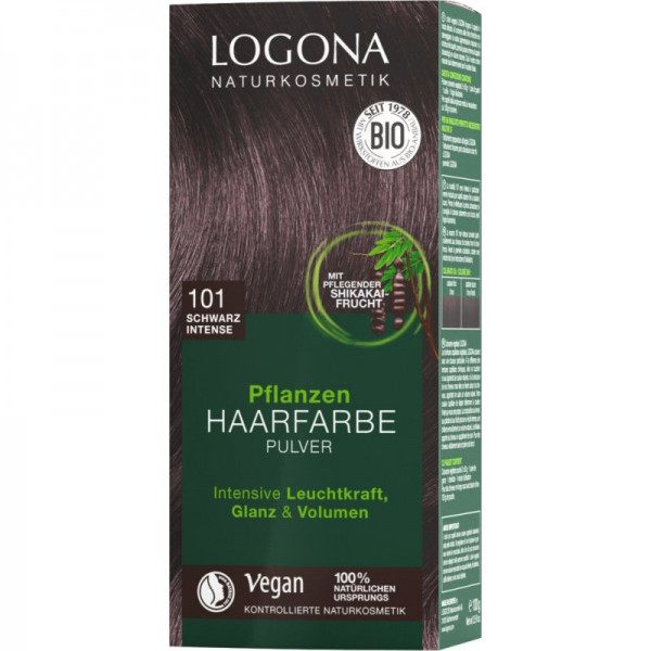 Pflanzen Haarfarbe 101 schwarzintense, 100g - Logona
