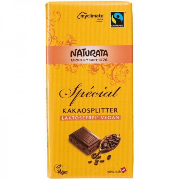 Spécial Kakaosplitter Schokolade Bio, (gelb) 100g - Naturata