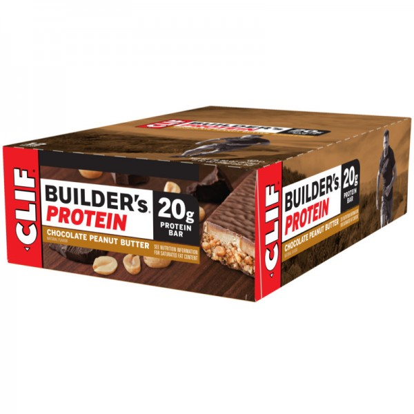 Builder's 20g Protein Chocolate Peanut Butter Box, 12 Stück - Clif Bar