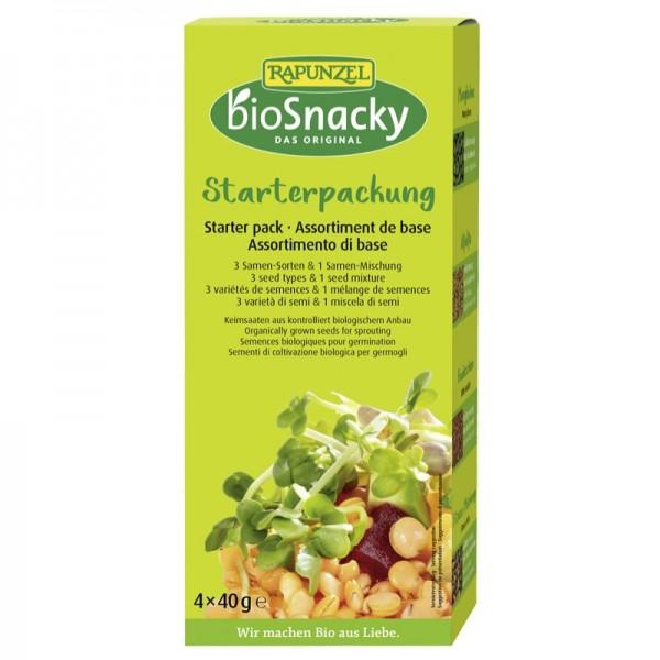 Bio Snacky Starter-Packung Bio, 4x40g - Rapunzel