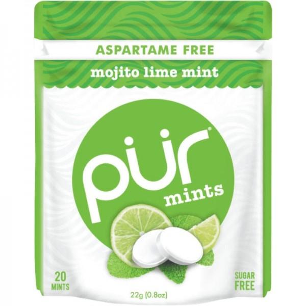 Pastillen mojito lime mint, 22g - pür mints