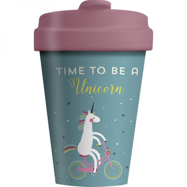 Bamboo Cup Time for Unicorns 400ml, 1 Stück - Chic Mic