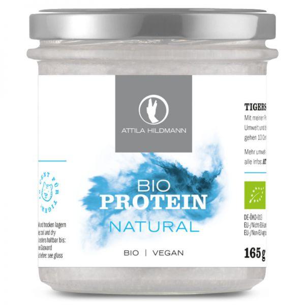 Natural Proteinpulver im Glas Bio, 165g - Attila Hildmann
