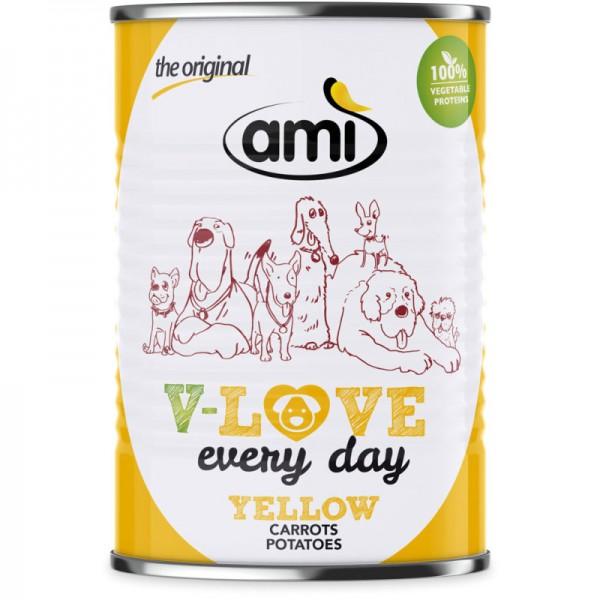 V-Love Yellow Hunde Nassfutter Carrots & Patatoes, 400g - Ami