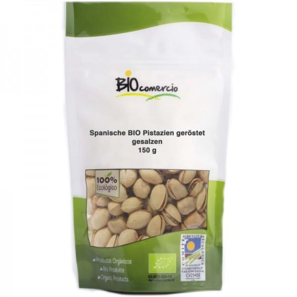Spanische Pistazien mit Schale geröstet & gesalzen Bio, 150g - Bio comercio