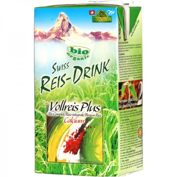 Vollreis Plus Calcium Swiss Reis-Drink Bio, 1L - Soyana