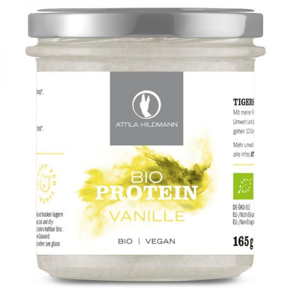Vanille Proteinpulver im Glas Bio, 165g - Attila Hildmann
