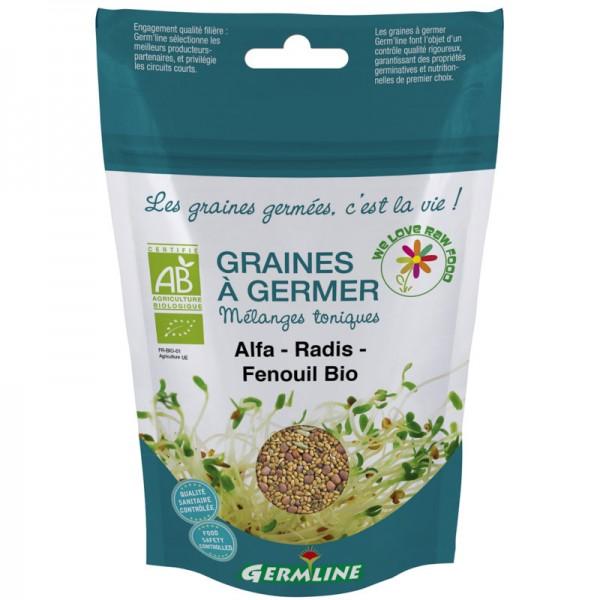 Keimsaat Alfalfa-Rettich-Fenchel Beutel Bio, 150g - Germline