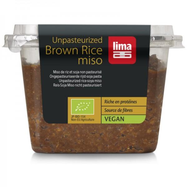 Braun Reis Miso nicht pasteurisiert Bio, 300g - Lima