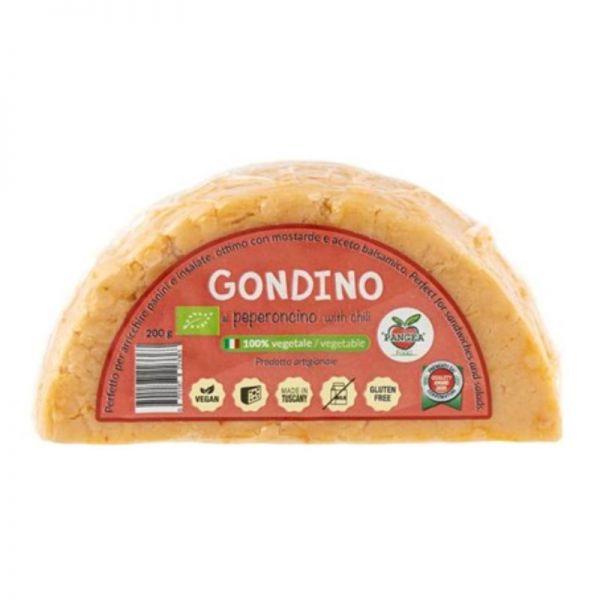 Gondino Vegane Alternative zu Hartkäse Chili Bio, 200g - Pangea Food