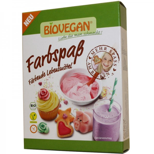 Farbspass Färbende Lebensmittel Bio, 5 x 8g - Biovegan