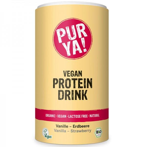 Protein Drink Vanille-Erdbeere Bio, 550g - PUR YA!