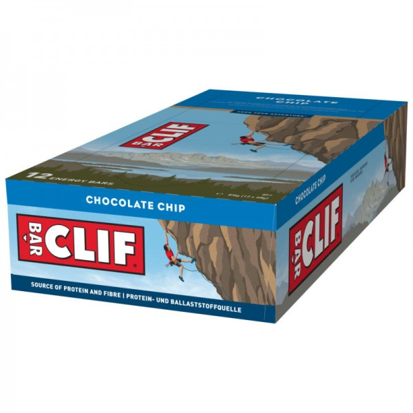 Chocolate Chip Riegel Box, 12 Stück - Clif Bar
