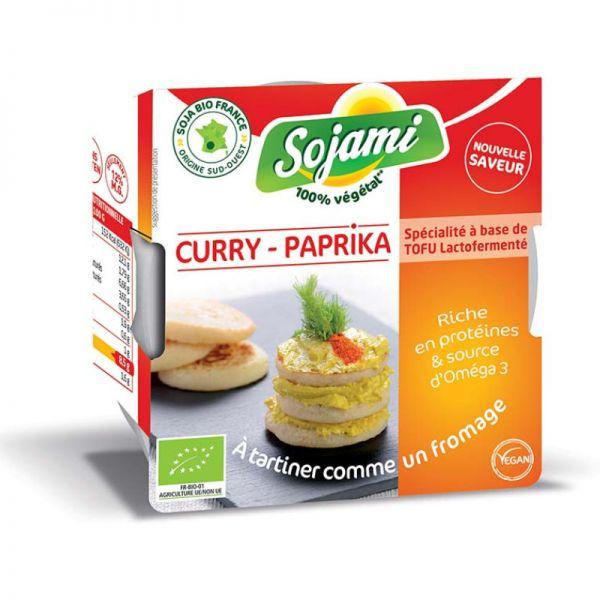 Aufstrich Curry-Paprika statt Frischkäse Bio, 125g - Sojami