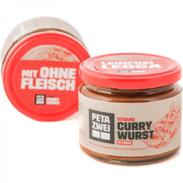 Vegane Currywurst in Sauce, 270g - LeHa Peta Zwei