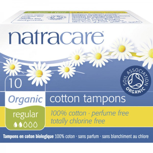 Tampons 'regular' Bio-Baumwolle, 10 Stück - Natracare