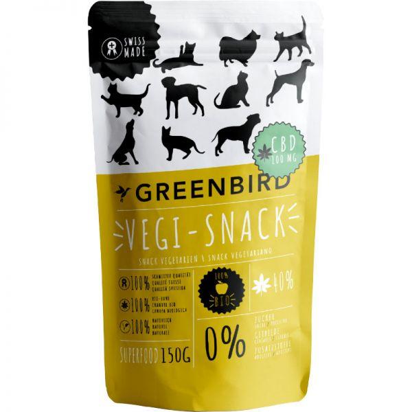 Vegi-Snack für Haustiere mit 100mg CBD, 150g - Greenbird